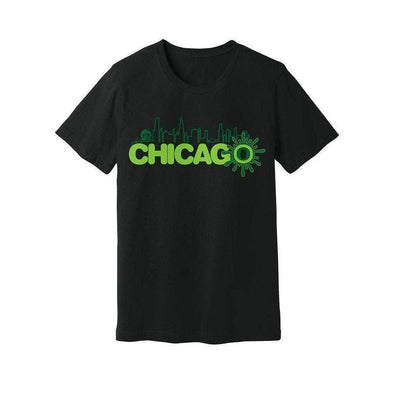 Ooze Chicago Skyline Mens T- Shirt T-Shirts