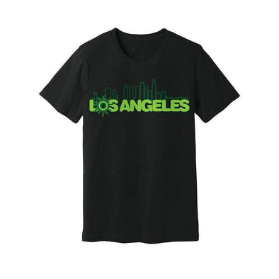 Ooze Los Angeles Skyline Mens T- Shirt T-Shirts