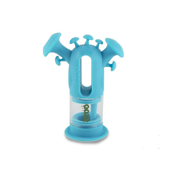 Ooze Trip Pipe Silicone Bubbler - Teal And Glass Water