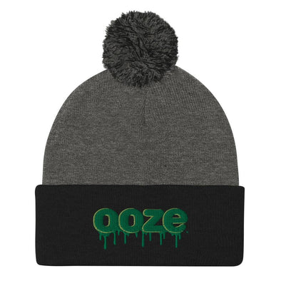 Ooze Logo Pom Beanie Dark Heather Grey/ Black