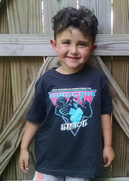Kid's Hardcore Herbivore T-Shirt (Gorilla in Sunglasses)