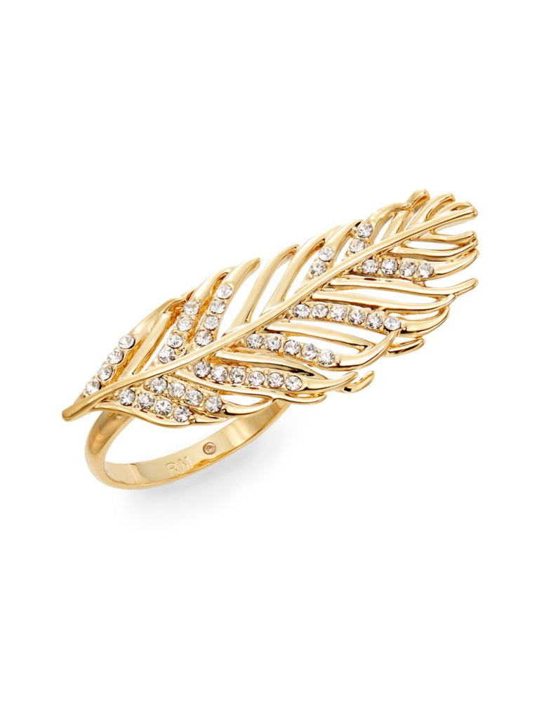 Rebecca Minkoff Feather Ring/Goldtone