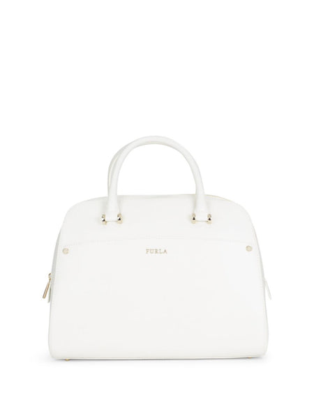 Furla Margo Elena Textured Leather Satchel - PitaPats.com