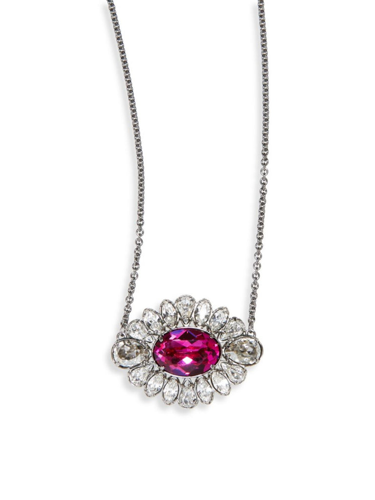 Swarovski Crystal Flower Pendant Necklace