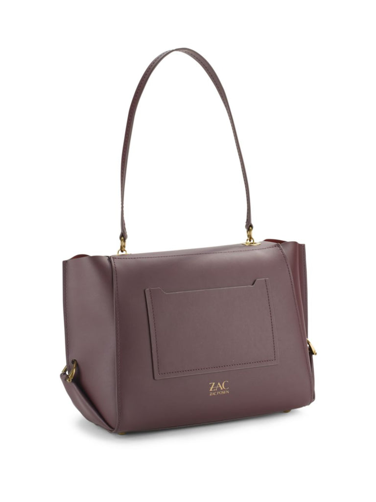 ZAC Zac Posen Eartha Folded Gusset Shoulder Bag - DARK PURPLE - PitaPats.com