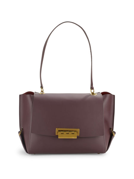 ZAC Zac Posen Eartha Folded Gusset Shoulder Bag - DARK PURPLE