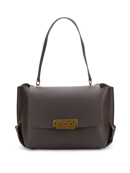 ZAC Zac Posen Eartha Folded Gusset Shoulder Bag - BROWN