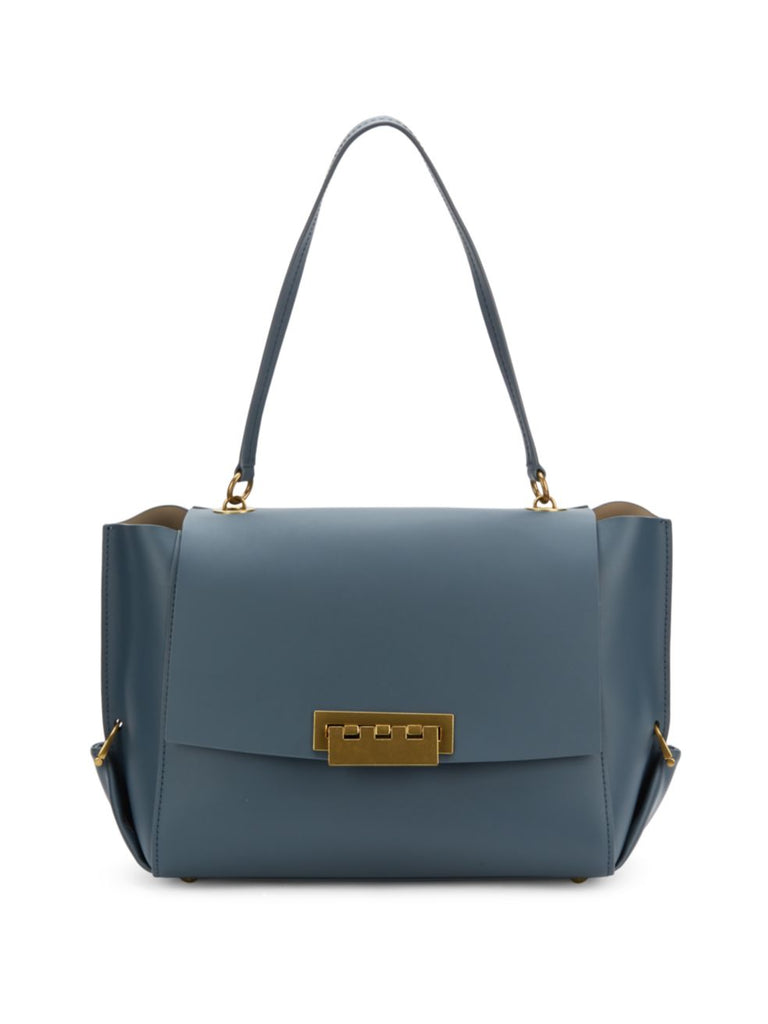 ZAC Zac Posen Eartha Folded Gusset Shoulder Bag - DARK GREY - PitaPats.com