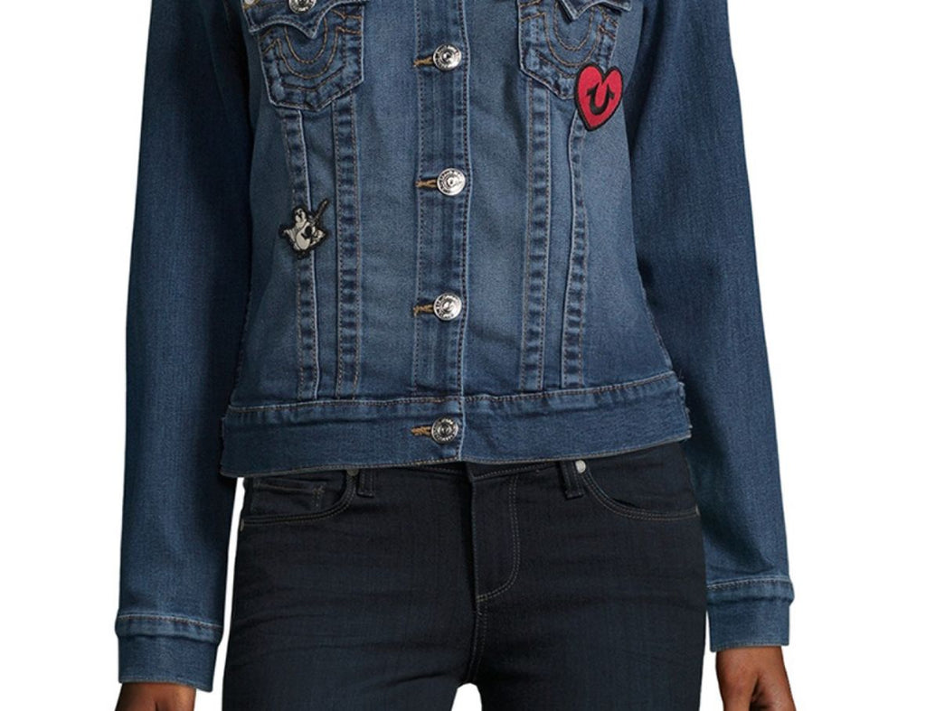TRUE RELIGION Trucker Patched Jean Jacket - PitaPats.com