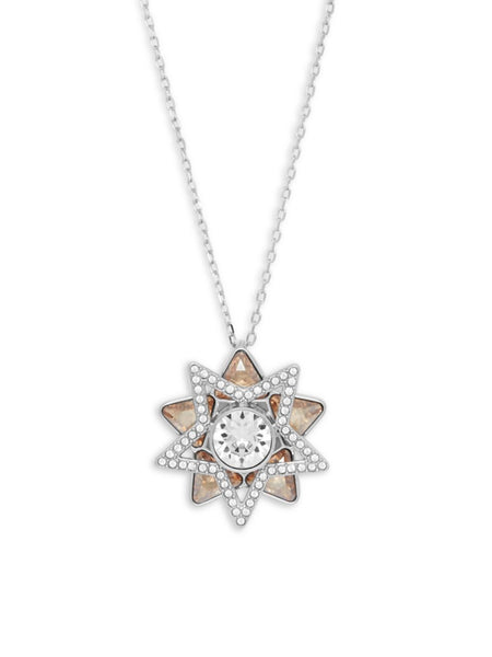 Swarovski Cry GSHA/RHS Double Star Pendant Necklace