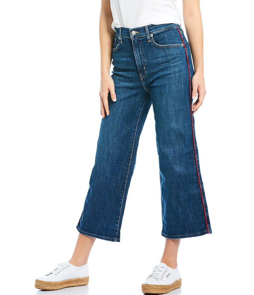Levi's® Womens Mile High Wide Leg Pipe Down Crop Jeans