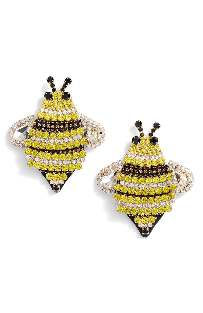 kate spade new york picnic perfect jeweled bee statement studs earring - PitaPats.com
