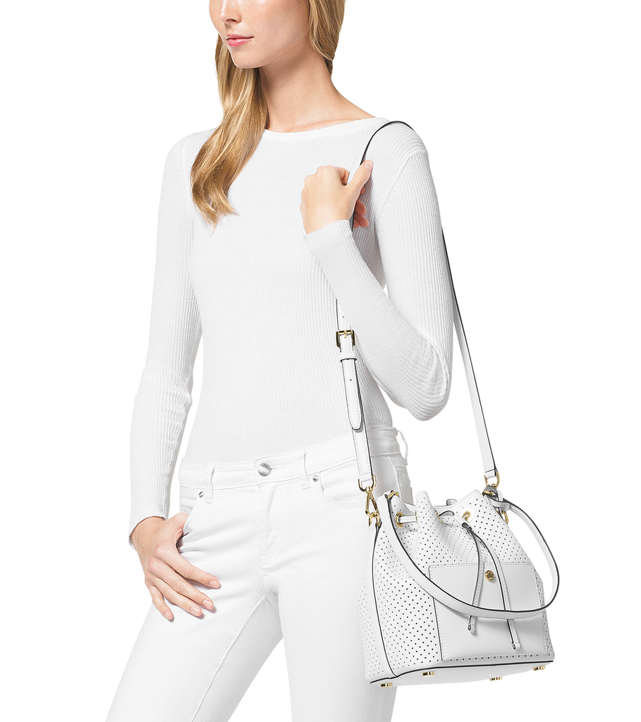MICHAEL Michael Kors Greenwich Medium Bucket Bag - PitaPats.com