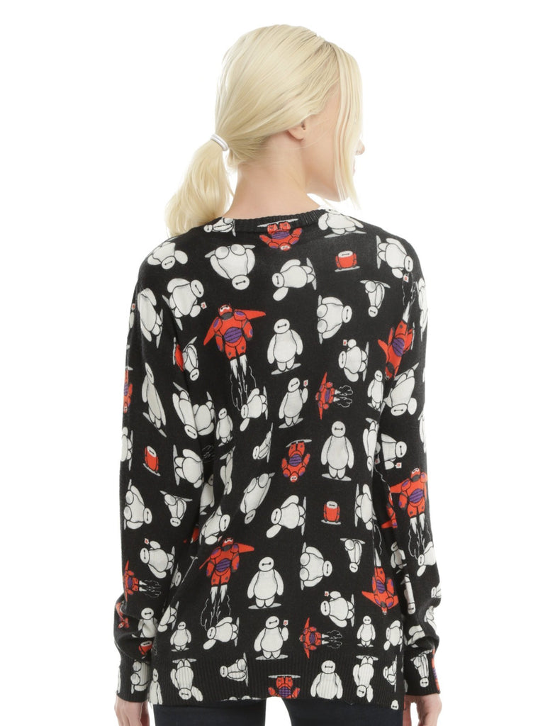 DISNEY BIG HERO 6 BAYMAX TOSS PRINT GIRLS CARDIGAN - PitaPats.com