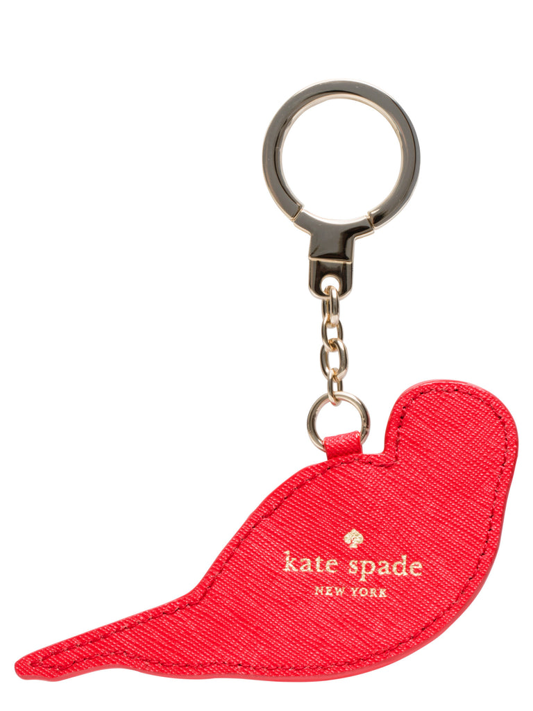 kate spade leather parrot keychain - PitaPats.com
