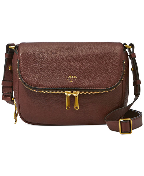 Fossil Preston Leather Small Flap Crossbody - PitaPats.com
