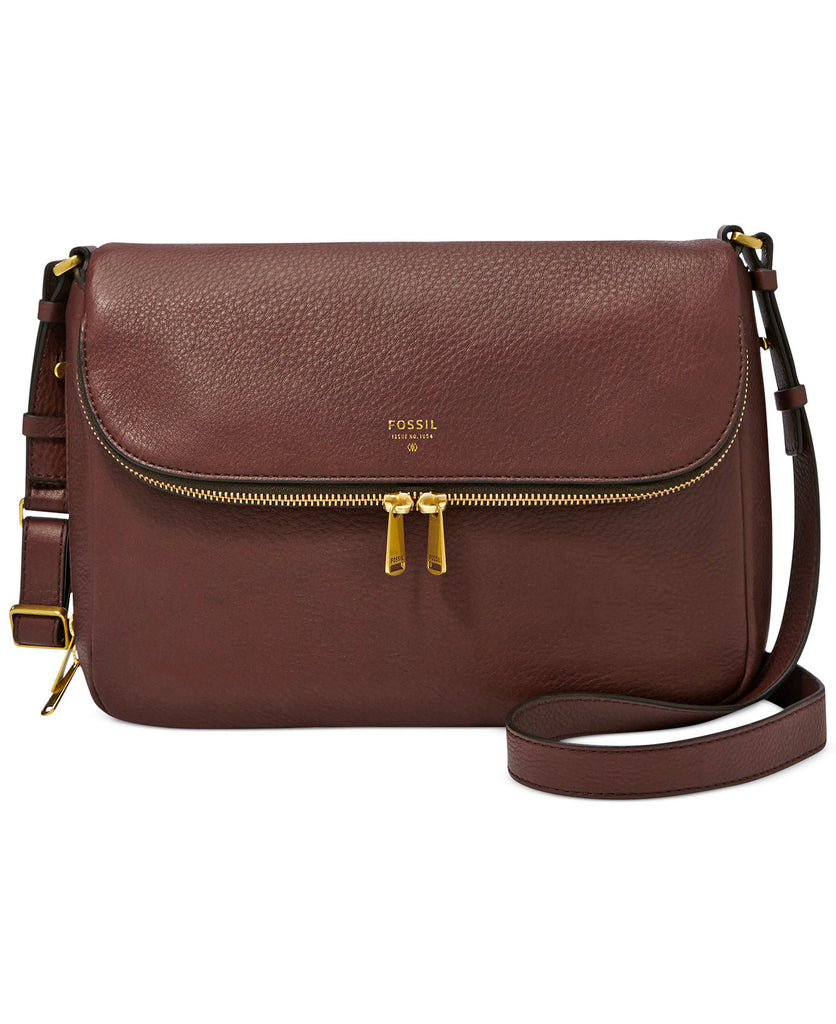 Fossil Preston Leather Flap Shoulder Bag - PitaPats.com