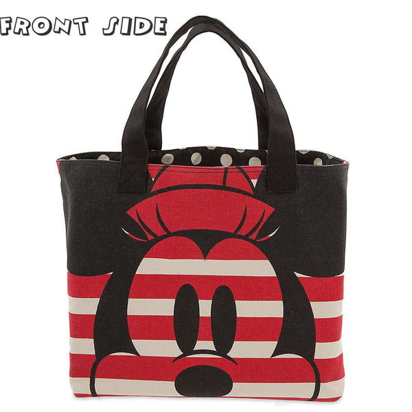 Disney Mickey and Minnie Mouse Canvas Tote Bag - PitaPats.com