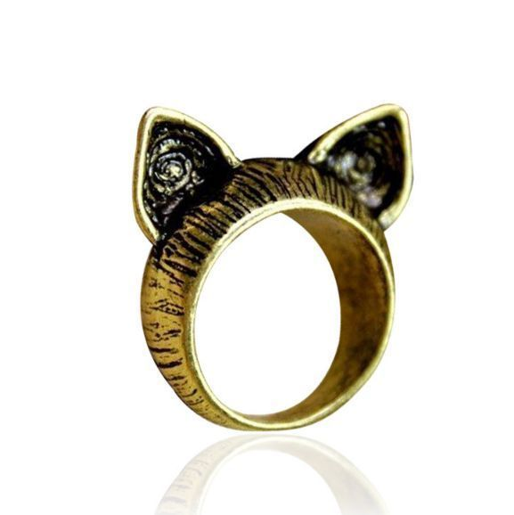 Meow Pointy Ears Vintage Ring