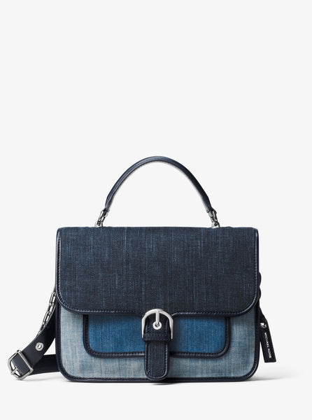 MICHAEL KORS Cooper Large Denim Satchel