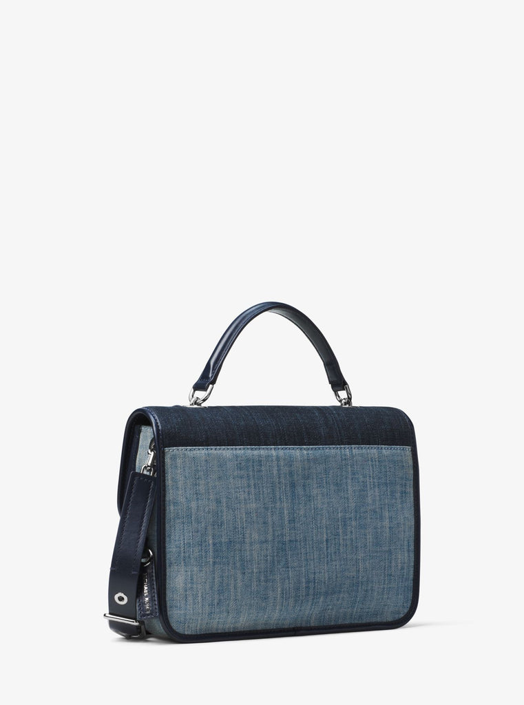 MICHAEL KORS Cooper Large Denim Satchel - PitaPats.com