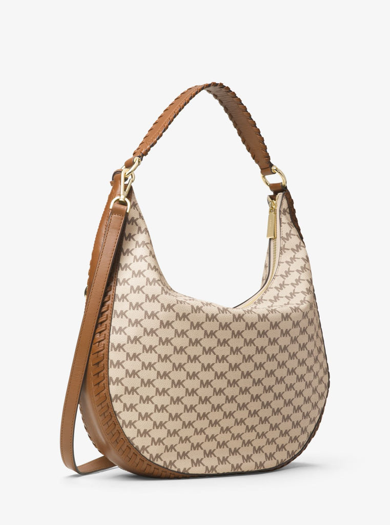 Michael Kors Lauryn Large Logo Shoulder Bag - PitaPats.com