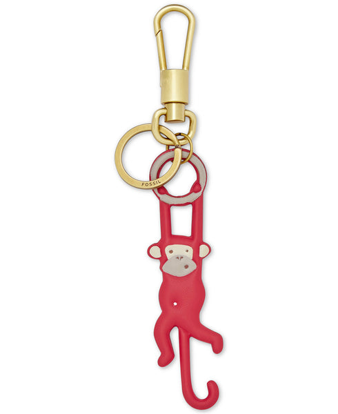 Fossil Monkey Leather Bag Charm - PitaPats.com