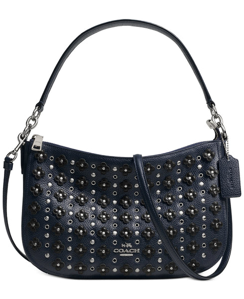 COACH CHELSEA CROSSBODY IN FLORAL RIVETS LEATHER - PitaPats.com