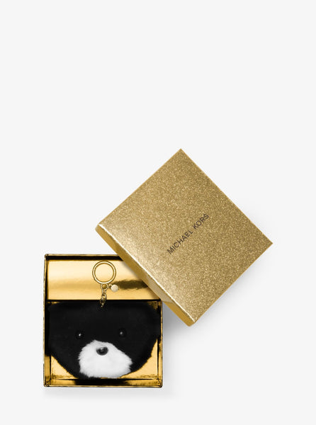 MICHAEL KORS Teddy Bear Fur Key Chain - PitaPats.com