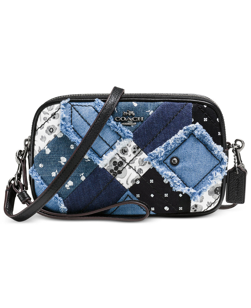 COACH Crossbody Clutch in Canyon Quilt Denim - PitaPats.com