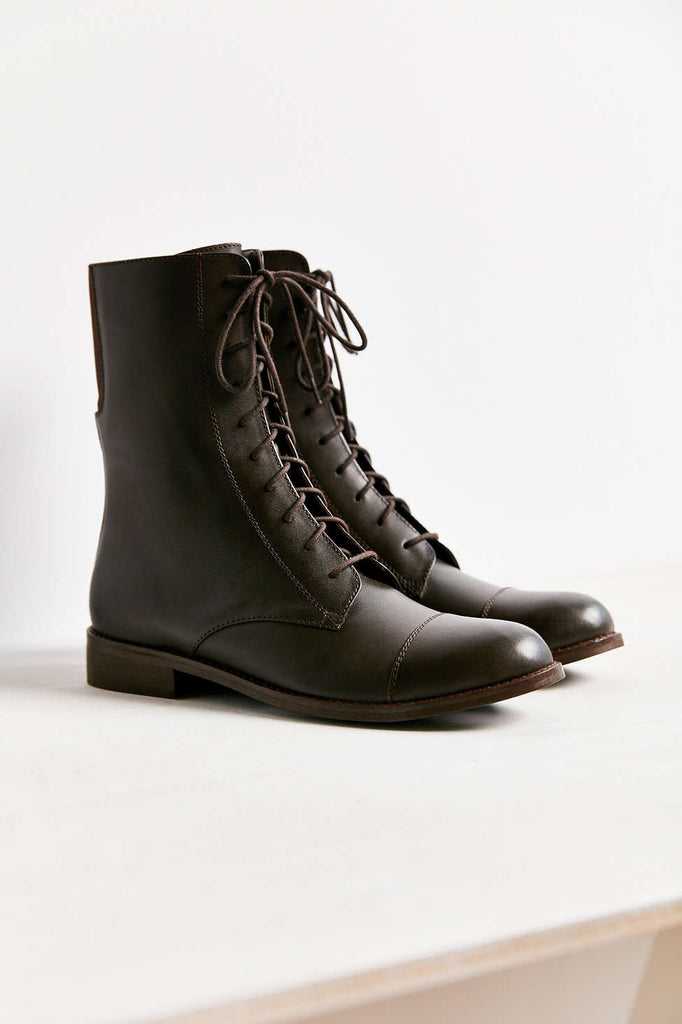 Louis Mid Lace-up Boot in Brown - Size 9 - PitaPats.com