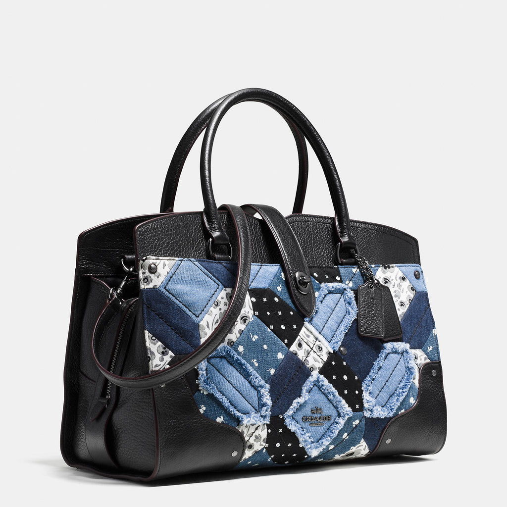 Coach MERCER satchel in canyon quilt denim - PitaPats.com