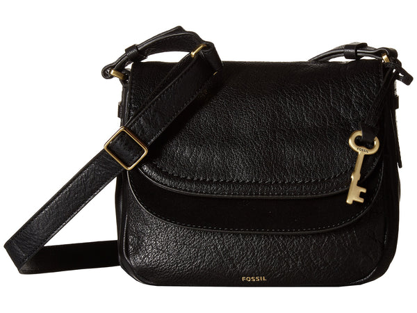 Fossil Peyton Small Double Flap Leather Crossbody