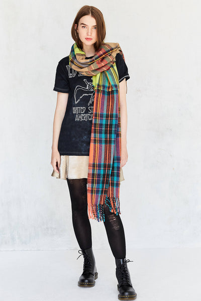Urban Outfitter Mixed Plaid Scarf