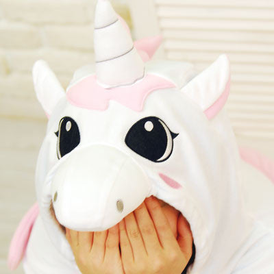 PITaPATs kids onesie animal jumpsuit costume - long sleeve pink unicorn