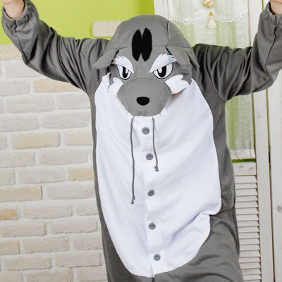 PITaPATs onesie animal jumpsuit costume - long sleeve wolf