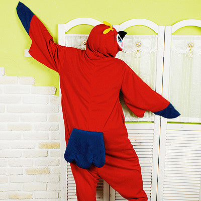 PITaPATs onesie animal jumpsuit costume - long sleeve parrot