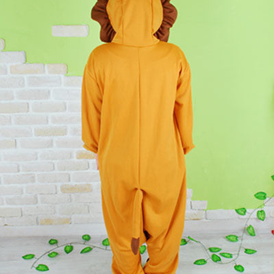 PITaPATs kids onesie animal jumpsuit costume - long sleeve brown king lion - PitaPats.com