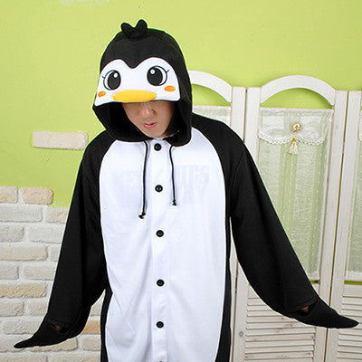 PITaPATs onesie animal jumpsuit costume - long sleeve black penguin