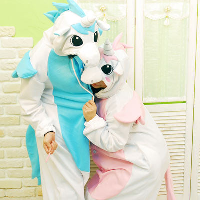 PITaPATs kids onesie animal jumpsuit costume - long sleeve pink unicorn - PitaPats.com