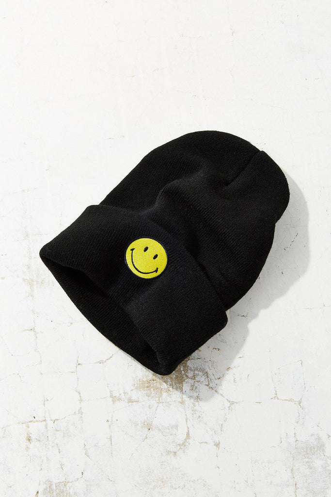 Urban Outfitter Smiley Logo Cuffed Beanie - PitaPats.com