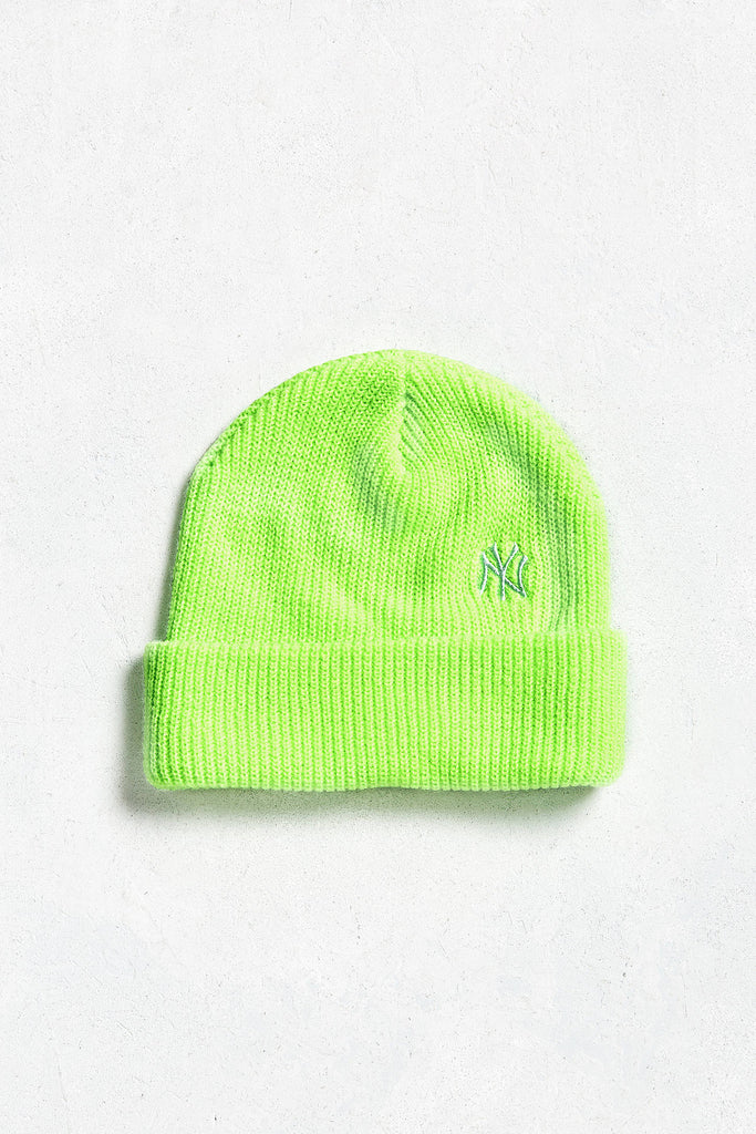 47 Brand X UO New York Lime Beanie - PitaPats.com