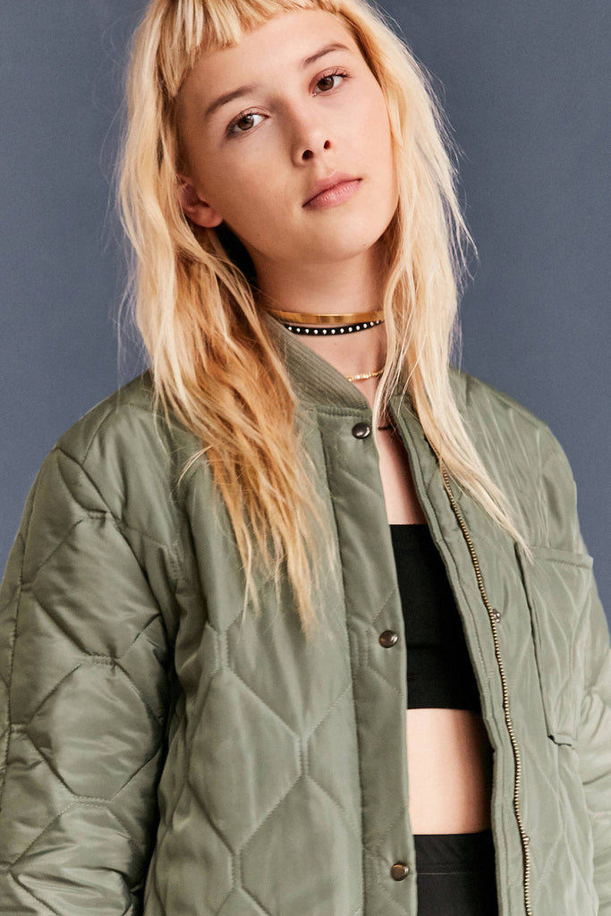 Silence + Noise Quilted Liner Bomber Jacket - PitaPats.com