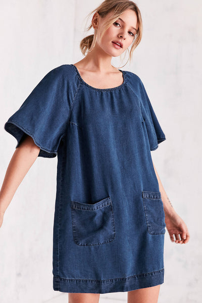 Cooperative Chambray Raglan Sleeve Dress