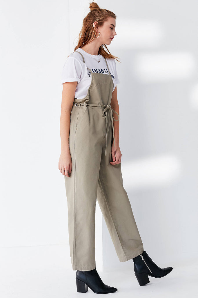 UO Tie-Waist Apron wide leg Overall - PitaPats.com