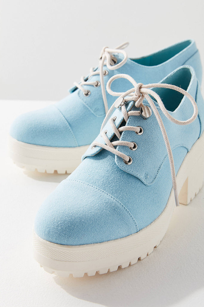 Sadie Denim Bubble Toe Oxford Shoe