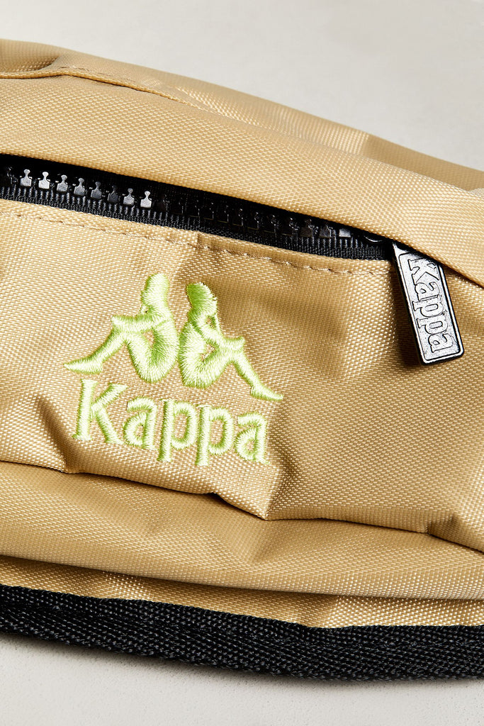 Kappa Anais Authentic Sporty Sling Bag Fanny Pack Beige-Lime