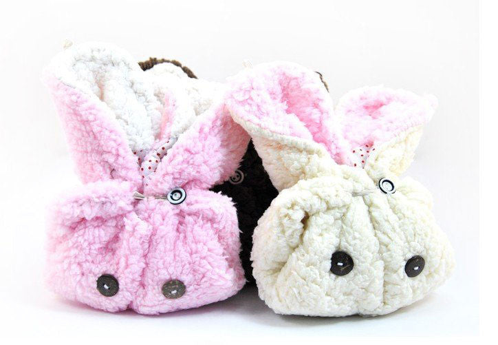 Rabbit plush warm Hat - PitaPats.com
