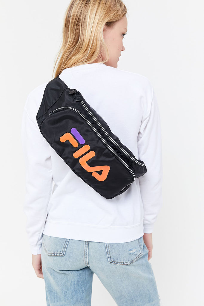 FILA Logo Big Black Sling Belt Waist Bag - Fanny pack
