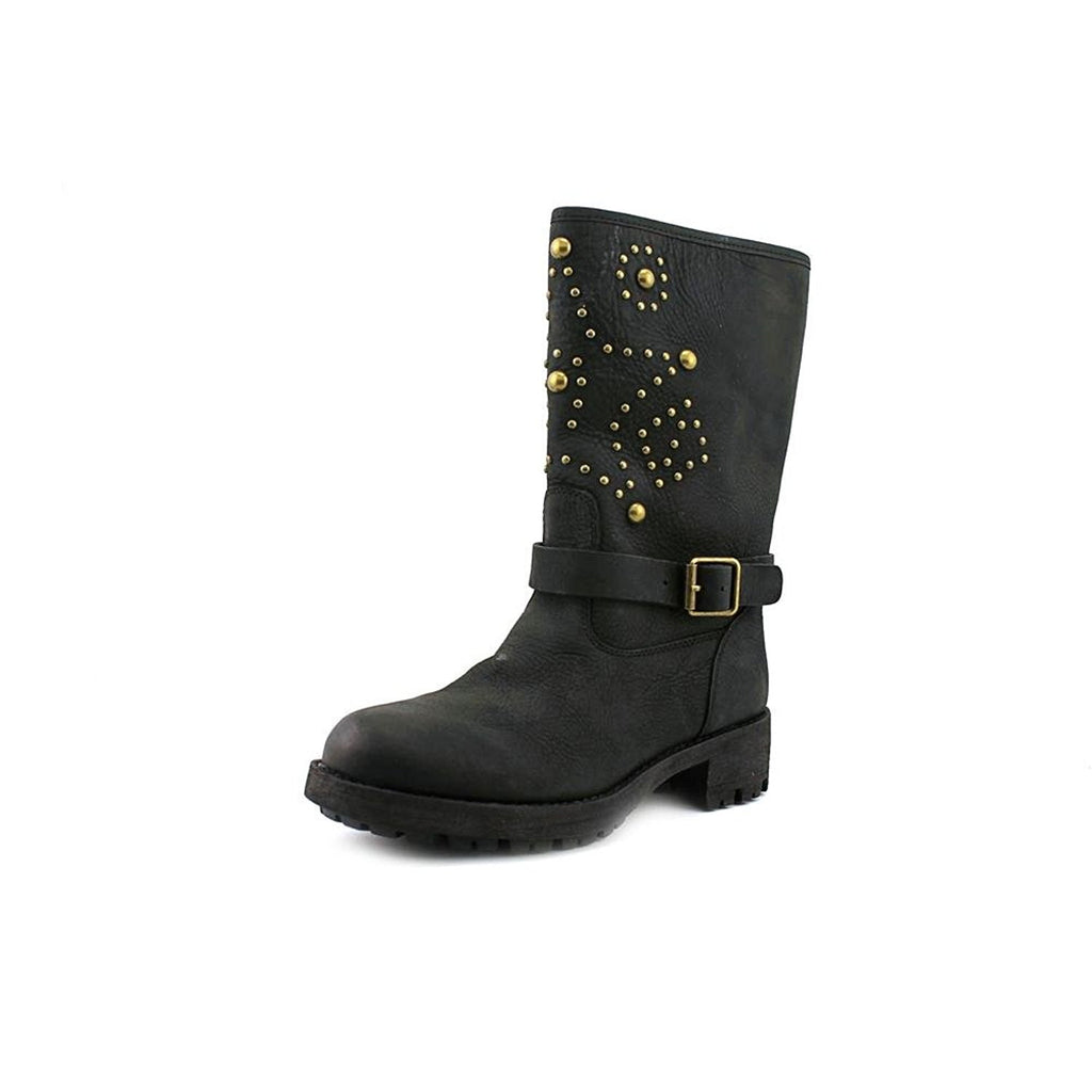 Ralph Rauren - Chandler Studded Moto Boot - Black